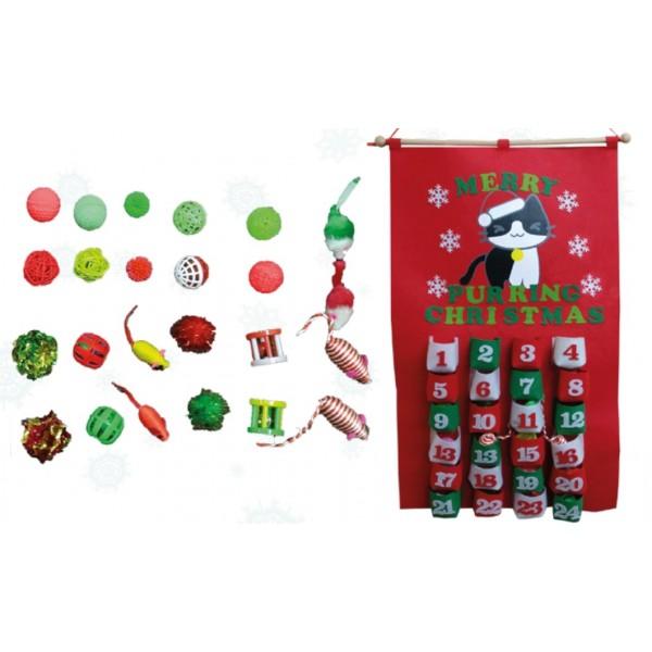 Xmas Cat Purring Calendar Χριστούγεννα