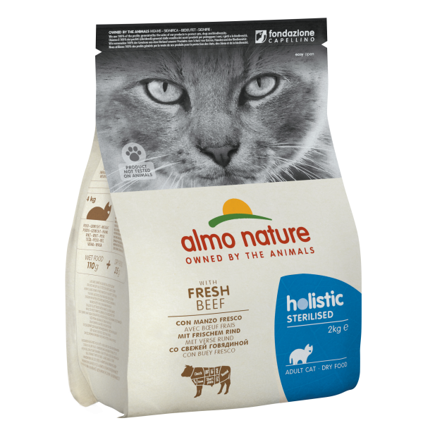 Almo Nature Holistic Sterilized με Μοσχάρι 2kg Ολιστικές Τροφές