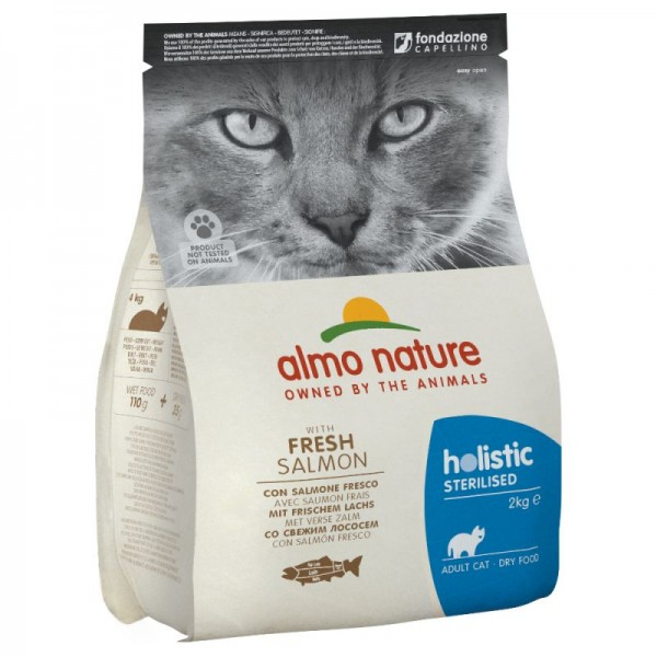 Almo Nature Holistic Sterilized με Σολομό και Ρύζι  2kg Ολιστικές Τροφές