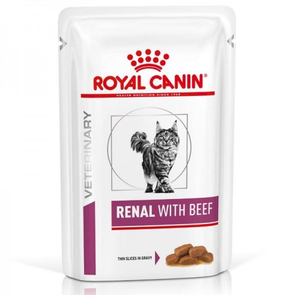 Royal Canin Veterinary Diet - Feline Renal Beef κομματάκια σε σάλτσα 85gr Κλινικές Τροφές - Δίαιτες