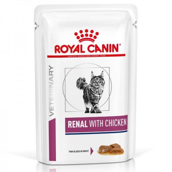 Royal Canin Veterinary Diet - Feline Renal Chicken κομματάκια σε σάλτσα 85gr Κλινικές Τροφές - Δίαιτες