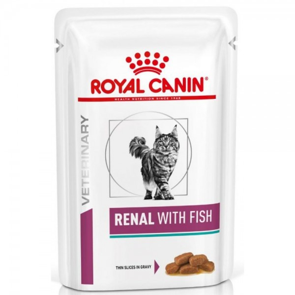Royal Canin Veterinary Diet - Feline Renal Fish κομματάκια σε σάλτσα 85gr Κλινικές Τροφές - Δίαιτες