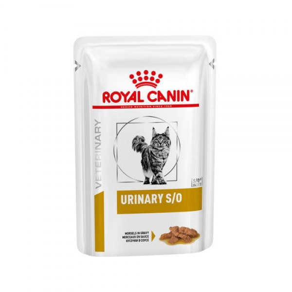 Royal Canin Veterinary Diet - Urinary S/O κομματάκια σε σάλτσα 85gr Τροφές