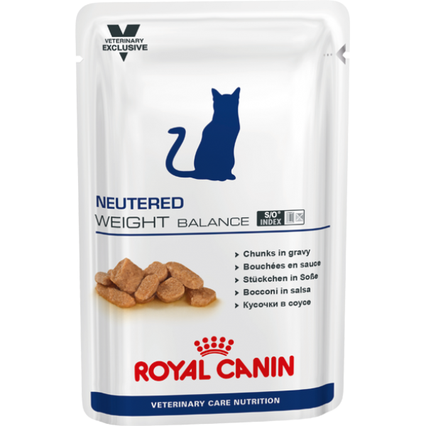 Royal Canin Veterinary Care Nutrition - Neutered Weight Balance WET (100gr Υγρή τροφή/Φακελάκι) Τροφές