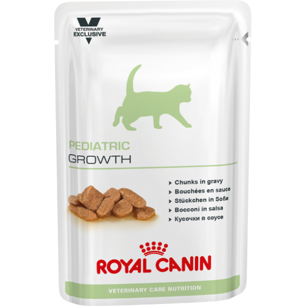 Royal Canin Veterinary Care Nutrition - Pediatric Growth WET (100gr Υγρή τροφή/Φακελάκι) Τροφές