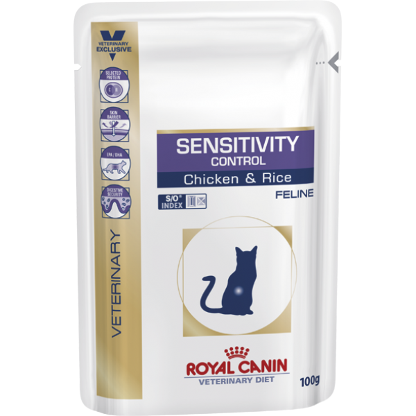 Royal Canin Veterinary Diet - Sensitivity Control S/O Chicken - Pouch (100gr Υγρή τροφή/Φακελάκι) Τροφές