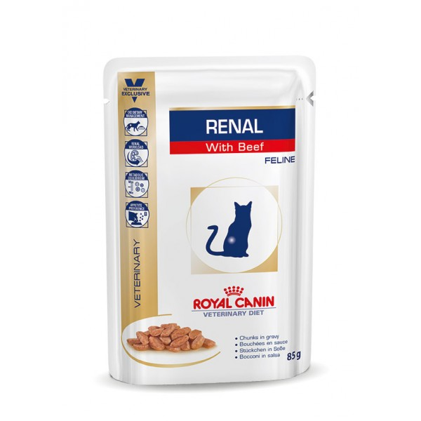 Royal Canin Veterinary Diet - Renal Beef (85gr Υγρή τροφή/Φακελάκι)