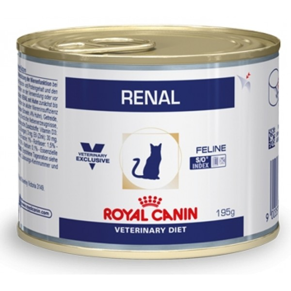 Royal Canin Veterinary Diet - Renal with Chicken - (195gr κονσέρβα) Τροφές