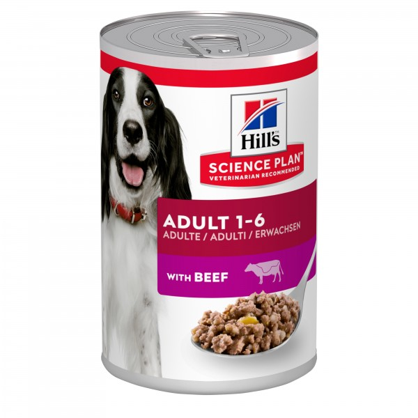 Hill's Science Plan Canine Adult με Βοδινό 370gr