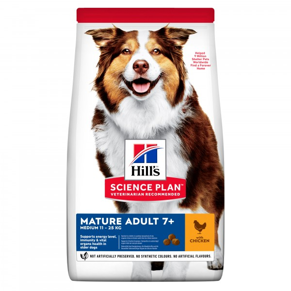Hill's Science Plan Canine Mature Adult 7+ Medium με Κοτόπουλο 14kg