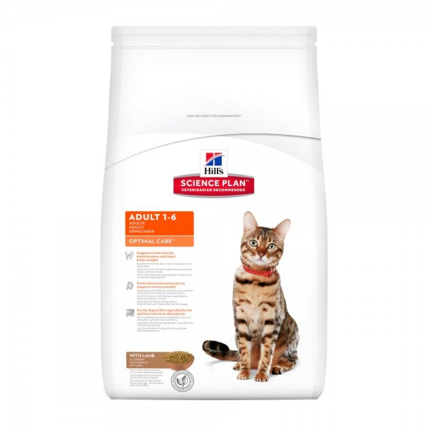 Hill's SP Feline Adult Optimal Care με Αρνί 2kg