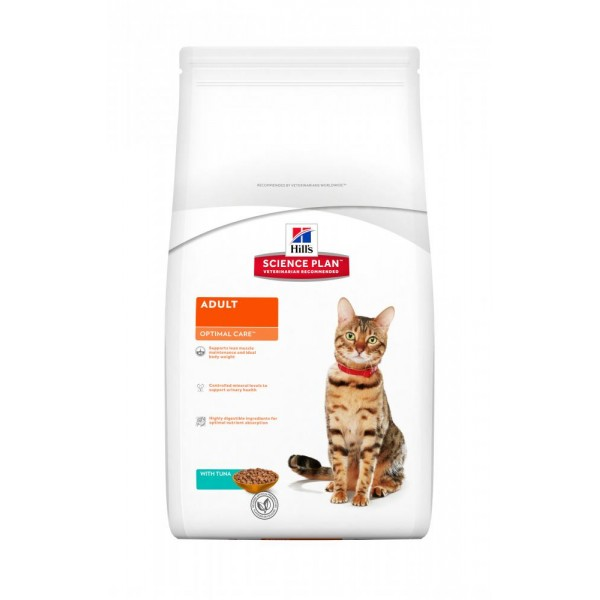 Hill's SP Feline Adult Optimal Care με Τόνο 400gr   Super Premium Τροφές