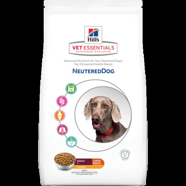 HILL'S Vet Essentials Adult Neutered Dog Large Breed με Κοτόπουλο (12kg Ξηρή Τροφή) Κτηνιατρικές Τροφές