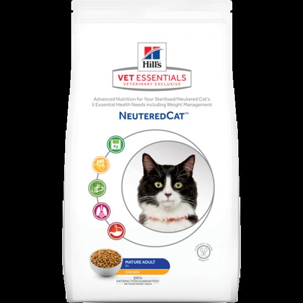 HILL'S Vet Essentials Neutered Cat Lower Fat Mature Adult με κοτόπουλο (1.5kg Ξηρή τροφή) Κτηνιατρικές Τροφές
