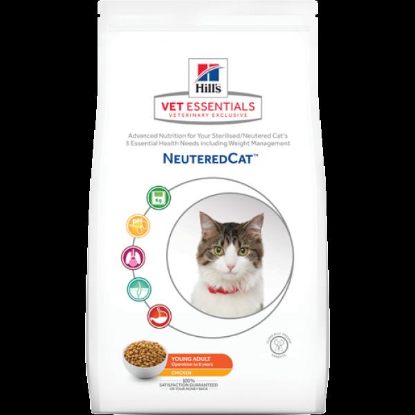 HILL'S Vet Essentials Neutered Cat Young Adult με κοτόπουλο (1.5kg Ξηρή τροφή) Κτηνιατρικές Τροφές