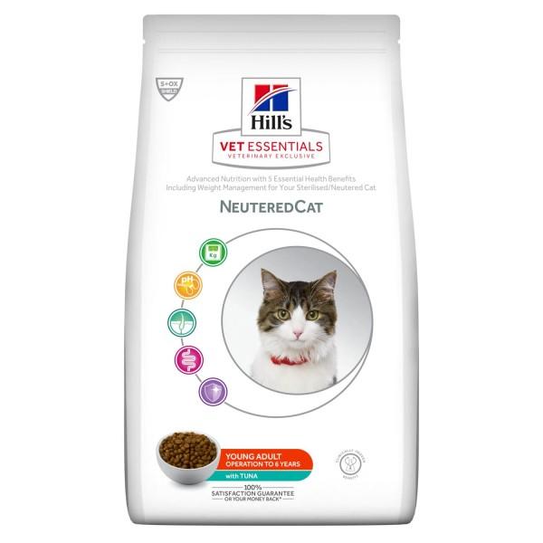 Hill's Vet Essentials - Neutered Cat Young Adult με Τόνο 1.5kg Κτηνιατρικές Τροφές