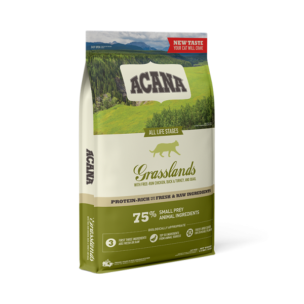 Acana Cat Grasslands 1.8kg Βιολογικά Κατάλληλες Τροφές
